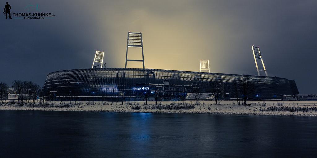 Weserstadion im Schnee