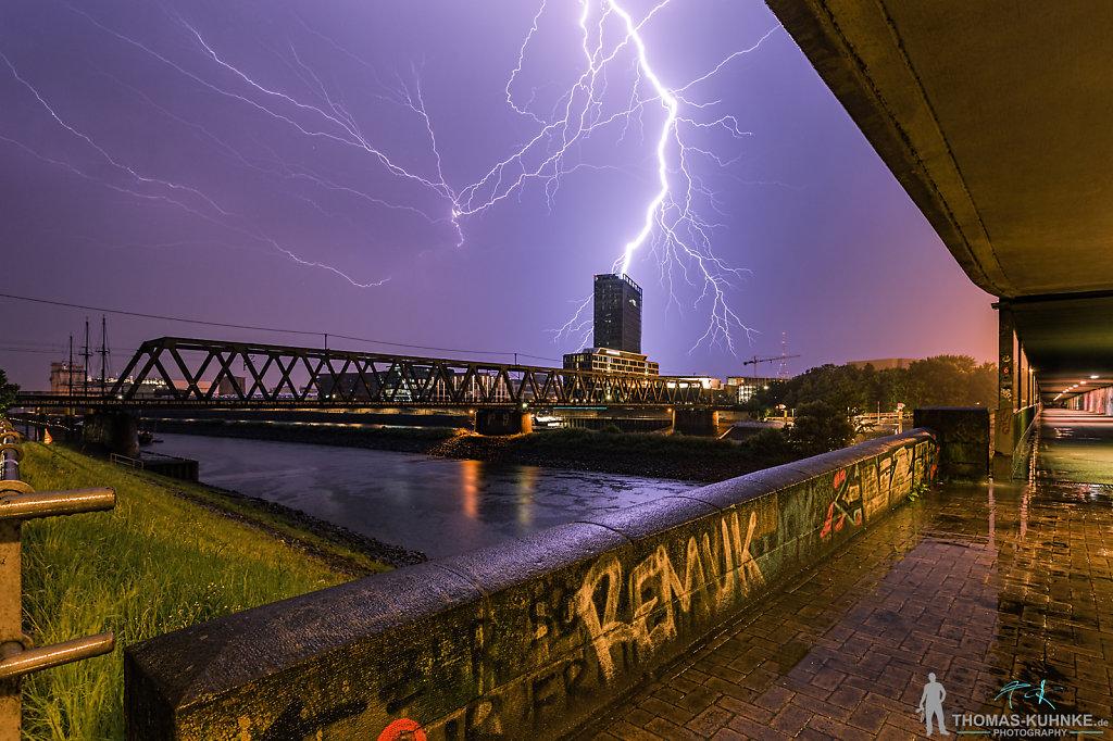 Gewitter über Bremen 24.06.16